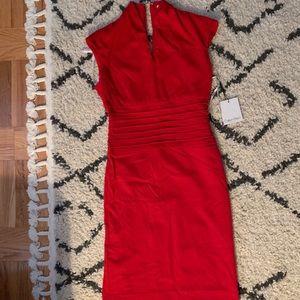 Red midi bodycon Calvin Klein dress